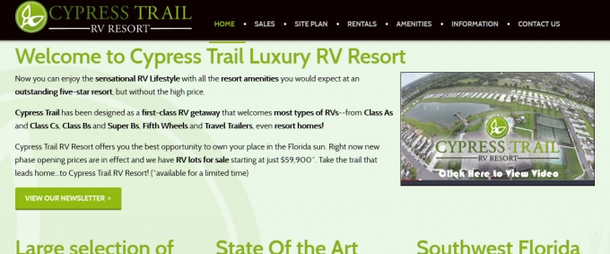 Cypress Trails RV Resort Website