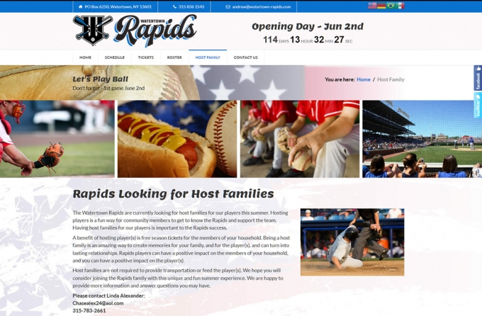 Watertown Rapids Website