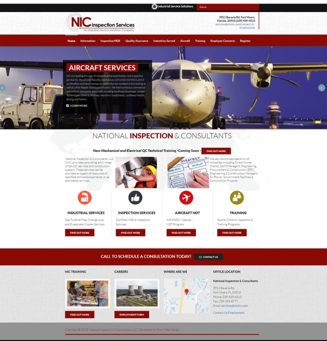 NIC Inspection Services Website