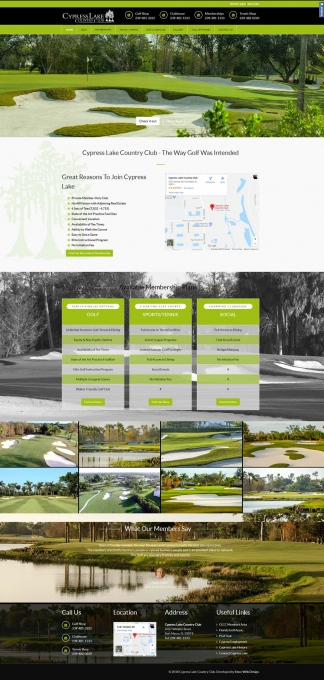 Cypress Lake Country Club Website