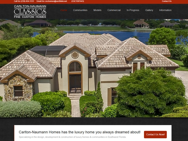 Carlton Naumann Classic Homes Website